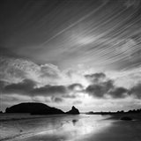 Harris Beach State Park At Sunset, Oregon (BW) Art Print