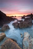 Soft Sunset And Incoming Tide At Harris Beach State Park, Oregon Art Print