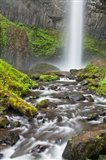 Latourell Falls And Creek, Columbia Gorge, Oregon Art Print