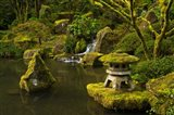 Portland Japanese Garden Pond, Oregon Art Print