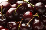 Close-Up Of Fresh Cherries Art Print