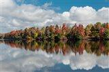 Autumn Lake Reflection Of Ricketts Glen State Park, Pennsylvania Art Print