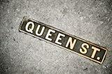 Queen St Sign, Charleston, South Carolina Art Print