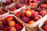Peaches In Baskets, South Carolina Art Print