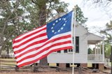 Betsy Ross Flag At The Craven House In Historic Camden, South Carolina Art Print