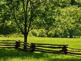 Old Wooden Fence In Cades Cove Art Print