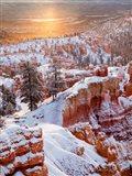 Sunrise Point After Fresh Snowfall At Bryce Canyon National Park Art Print