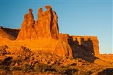 The Three Gossips Formation At Sunrise, Arches National Park Art Print