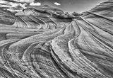 Second Wave Zion National Park Kanab, Utah (BW) Art Print