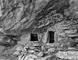 Ancient Granary Slickhorn Canyon, Cedar Mesa, Utah (BW) Art Print