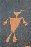 Detail Of A Duck Headed Man Petroglyph, Utah Art Print