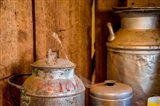 Old Milk Containers From A Dairy Farm Art Print