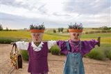 Scarecrows at a lavendar farm in SE Washington Art Print