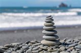 Stacked Beach Rocks, Washington State Art Print