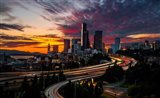 Sunset View Of Downtown Seattle Art Print