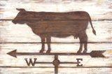 Farmhouse Cow Art Print