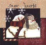 Snow Hearts Art Print