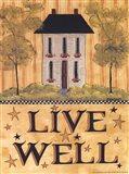 Live Well House Art Print