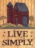 Live Simply Barn Art Print