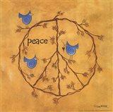 Twiggy Peace Art Print