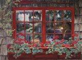 Window with Flowers I Art Print