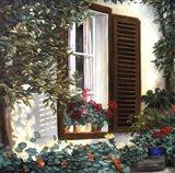 Window with Flowers II Art Print