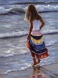 The Striped Skirt Art Print