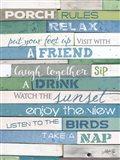 Porch Rules Art Print