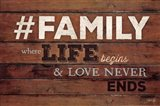 #FAMILY - Where Life Begins Art Print
