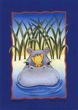 Happy Hippo Art Print