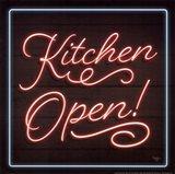 Neon Kitchen Open Art Print