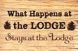 At The Lodge Art Print