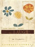 Laugh in Flowers Art Print