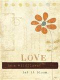 Let Love Bloom Art Print