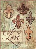 Love Fleur de Lys Art Print