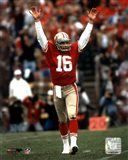 Joe Montana - celebrating touchdown Art Print