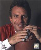 Joe Montana -4 Super Bowl Rings Art Print