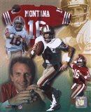 Joe Montana - Legends of the Game Composite Art Print