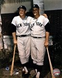 Mickey Mantle and Roger Maris- Palm Trees Art Print