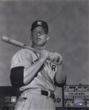 Mickey Mantle- With bat looking towards his right Art Print