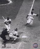 Jackie Robinson - baseball action Art Print