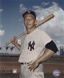 Mickey Mantle - #6 Posed with Bat Art Print
