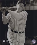 Babe Ruth -Bat over shoulder, posed sepia Art Print