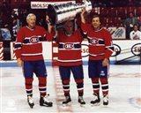 Jean Beliveau / Henri Richard / Guy Lafleur - Holding Stanley Cup Art Print