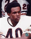 Gale Sayers - Close up, sidelines Art Print