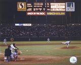 Nolan Ryan - 6th No Hitter (Last Pitch) Art Print