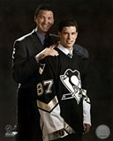 2005 - Sidney Crosby / Mario Lemieux Draft Day Art Print