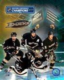 2007 - Ducks Western Conf. Champs /  Big 4 Art Print
