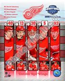 2008 Detroit Red Wings Western Conference Champions Composite Art Print