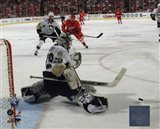 Marc-Andre Fleury in Game 5 of the 2008 NHL Stanley Cup Finals; Action #17 Art Print